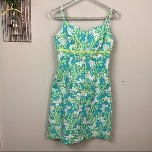 Lilly Pulitzer white label  dress w/butterflies 4